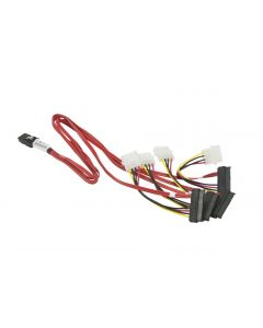 Supermicro MiniSAS to 4 SAS/SATA 60cm with 4 Pin Power 15cm Cable (CBL-0309L)